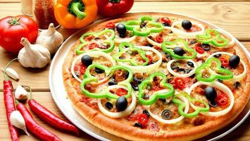Photo free pizza, dish, spices