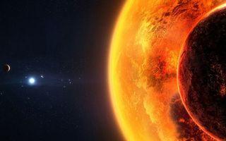 Фото бесплатно планеты, луна, звезды