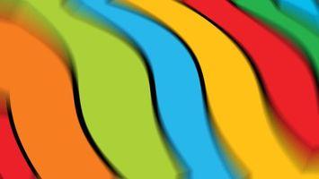 Фото бесплатно полосы, разноцветные, волна