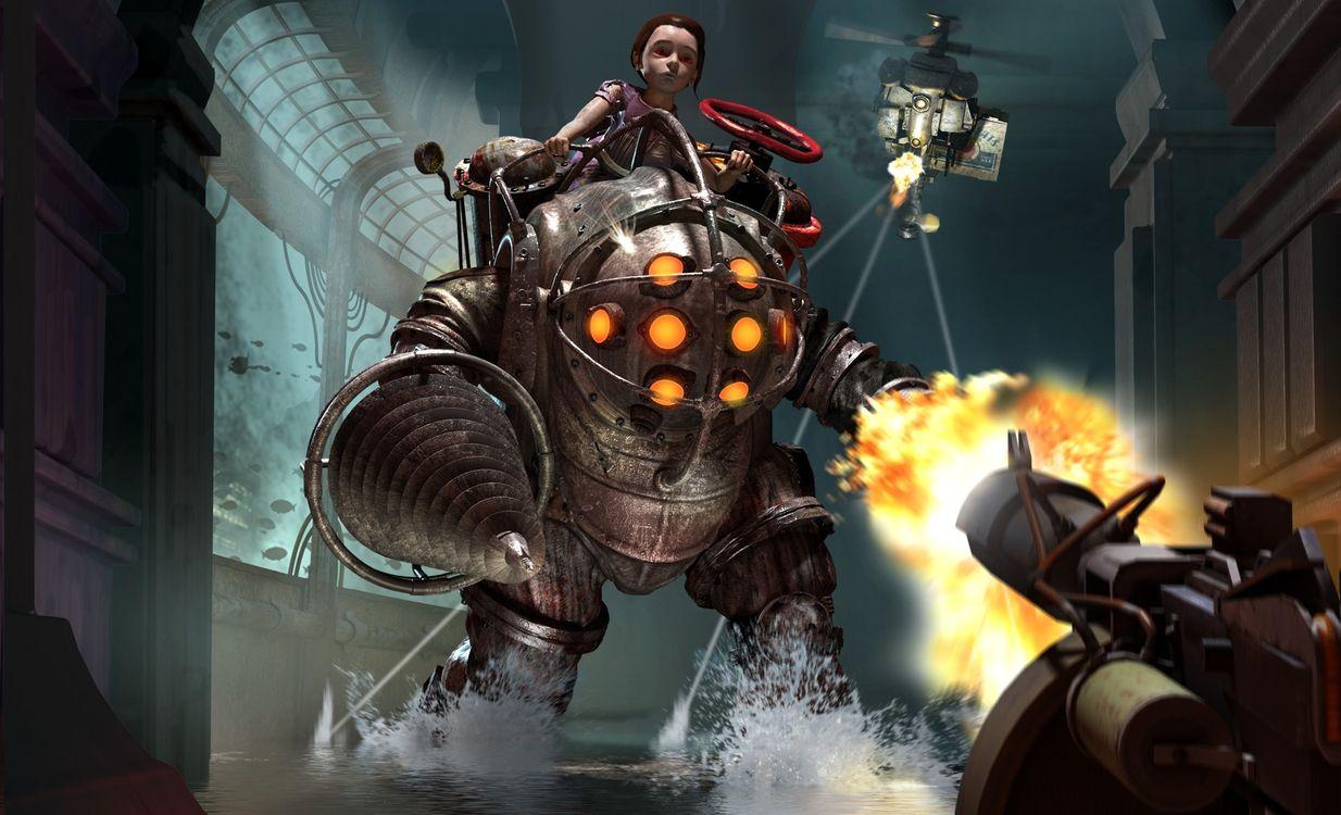 Фото бесплатно роботы, воины, огонь - на рабочий стол