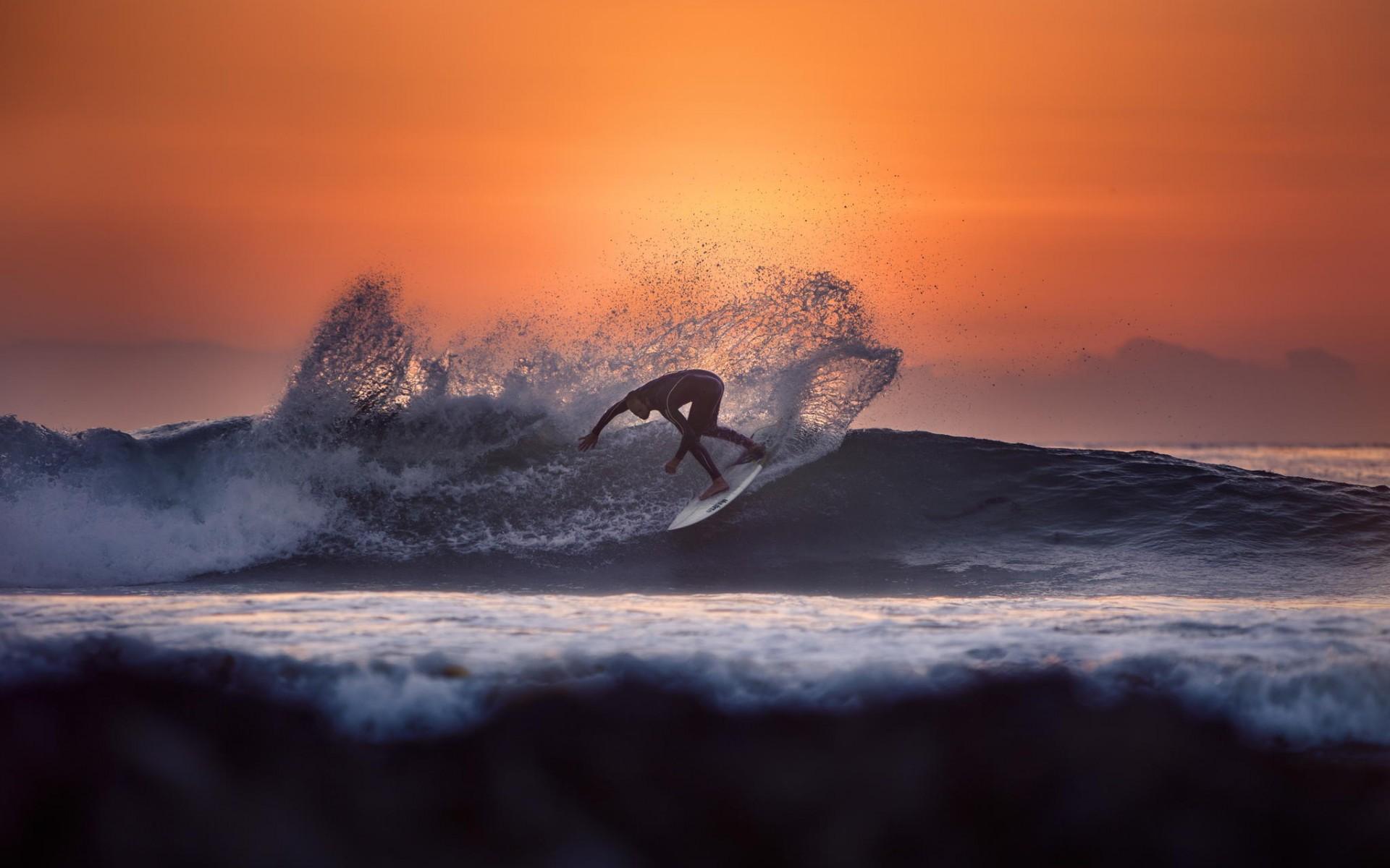 серфинг, доска, море
