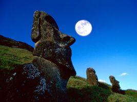 Бесплатные фото трава,камни,холмы,луна,небо,голубое,природа