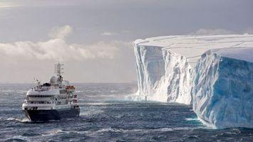 Бесплатные фото вода,море,айсберг,снег,корабль,небо,облака