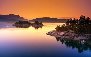 Бесплатные фото вода,река,озеро,острова,лес,деревья,закат