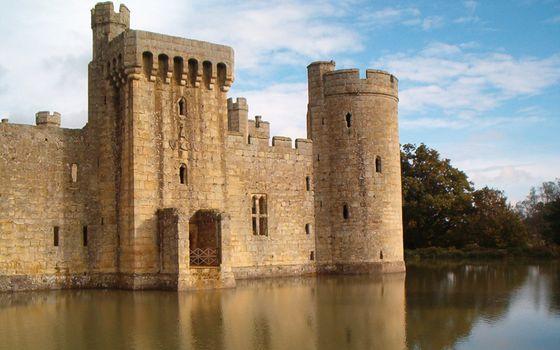 Фото бесплатно вода, стены, башни