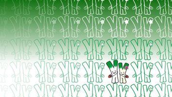 Бесплатные фото заставка,обои,рисунок,буквы,желуди,цвет,зеленый