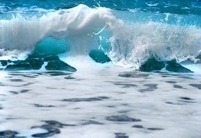 Фото бесплатно волна, пена, море