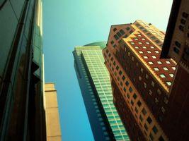 Бесплатные фото дома,небоскребы,высотки,окна,стекло,небо,город