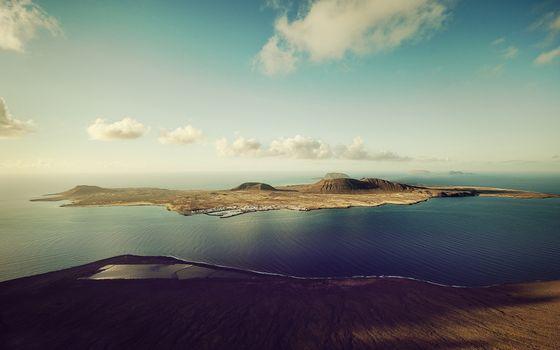 Фото бесплатно остров, океан, возвышенности