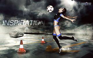 Фото бесплатно девушки, мяч, женщины