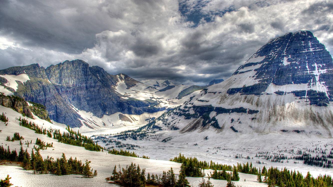 Фото бесплатно снег, природа, скалы - на рабочий стол