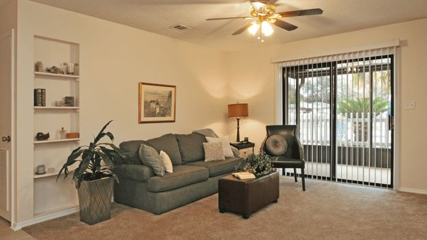 Photo free living room, sofa, light