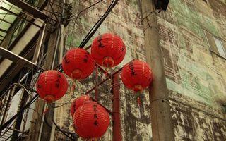 Бесплатные фото китай,дом,окна,фонарики,красные,столб,город