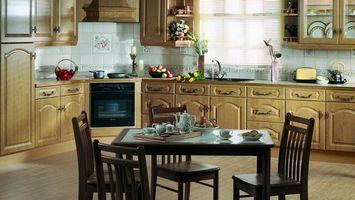 Photo free kitchen, interior, table