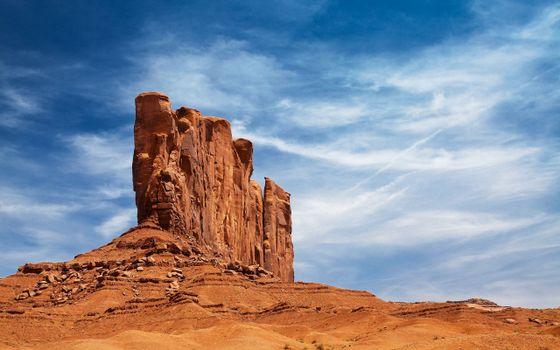 Фото бесплатно монумент на земле навахо в сша, камни, песок