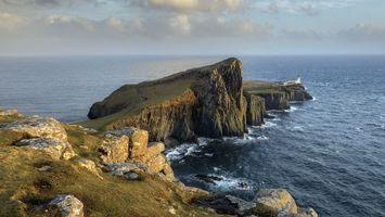 Бесплатные фото море, волны, камни, скалы, трава, зеленая, небо