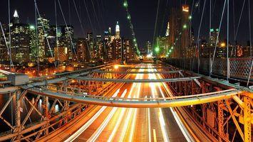 Фото бесплатно ночь, мост, конструкция