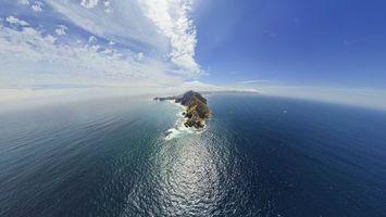 Бесплатные фото океан,вода,остров,горы,небо,облака,течение
