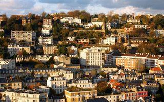Бесплатные фото осень,дома,здания,крыши,улицы,деревья,город