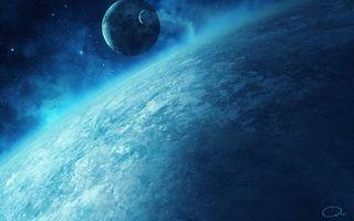 Заставки планета,спутник,звезды,туман,пыль,газ,туманность