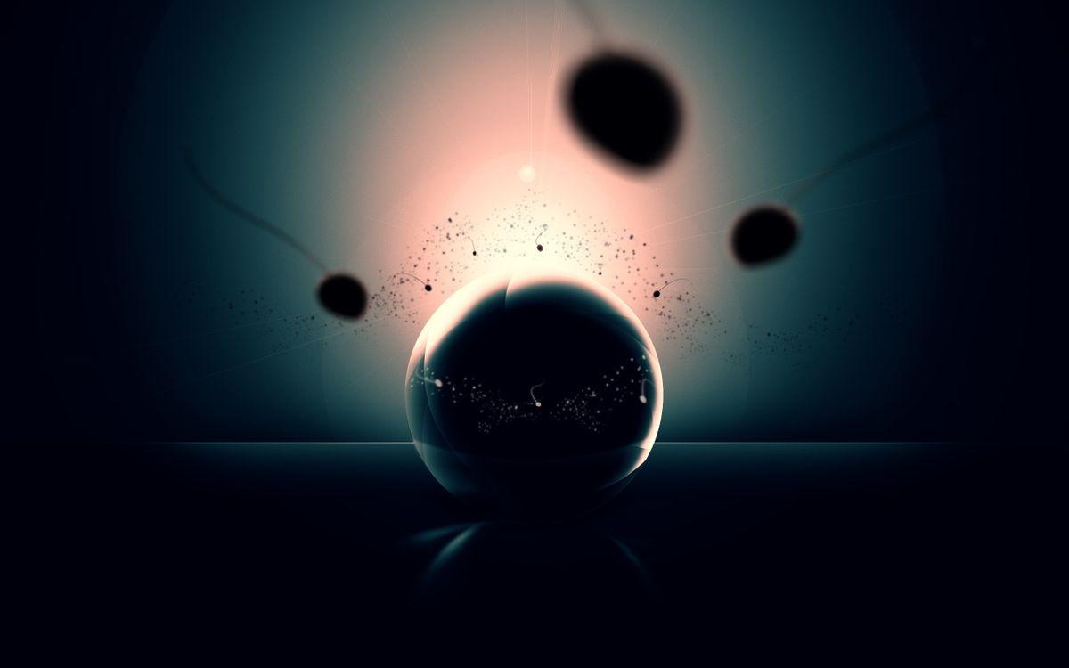 Фото бесплатно шар, круг, заставка, обои, рисунок, картинка, фон, синий, абстракции, разное, разное