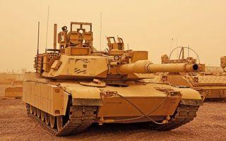 Фото бесплатно танк, абрамс, abrams, usa, военная, техника, пустыня, песок, сирия, война, оружие