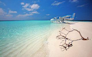 Бесплатные фото тропики,мальдивы,море,остров,пляж,самолёт,пейзажи