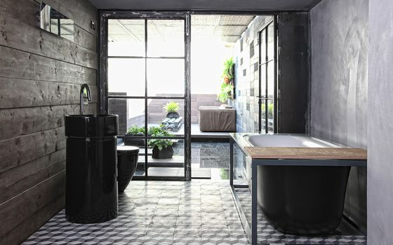 Photo free bath, tile, door