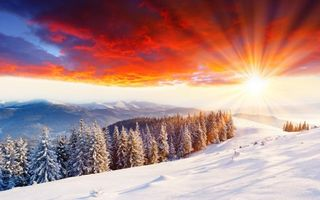 Photo free mountains, snow, sun