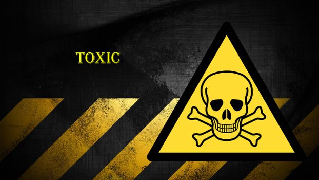 Photo free sign toxic, skull, bones