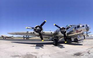 Фото бесплатно самолет, боинг, b-17g