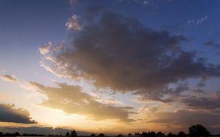 Бесплатные фото закат,небо,облака,солнце,деревня,дом,пейзажи