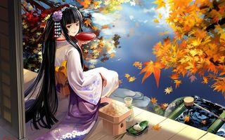Бесплатные фото девушка,волосы,река,листья,вода,отражение,улыбка