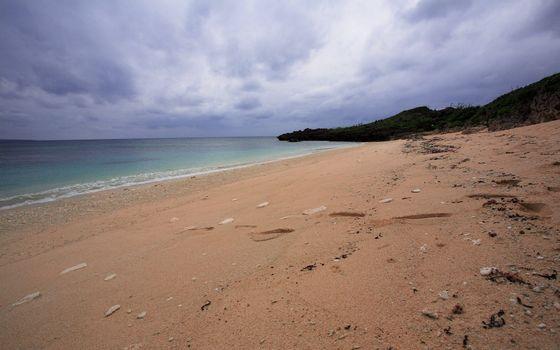 Бесплатные фото пляж,песок,следы,ступни,небо,камни,пейзажи,природа