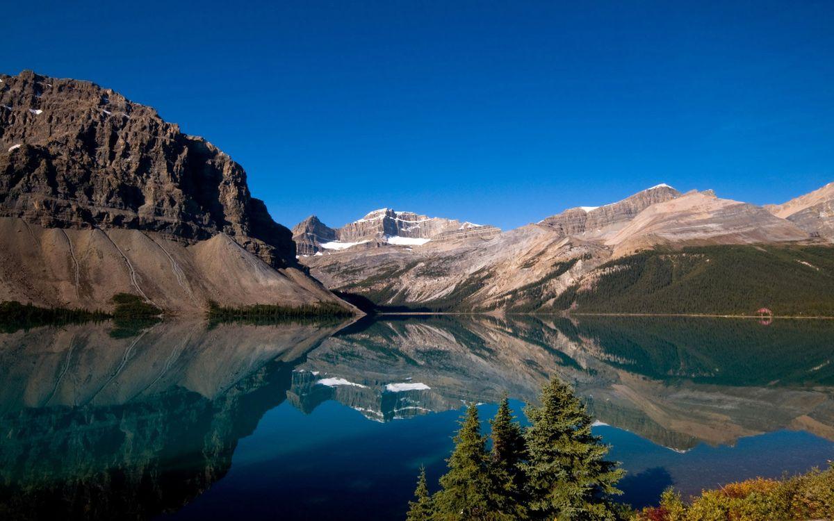 Фото бесплатно горы, камни, вода, деревья, кусты, небо, природа, природа