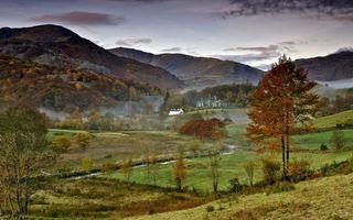 Фото бесплатно флигель, деревья, дом