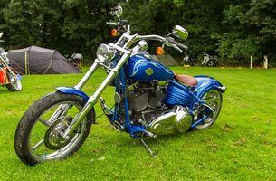 Фото бесплатно harley davidson, байк, синий