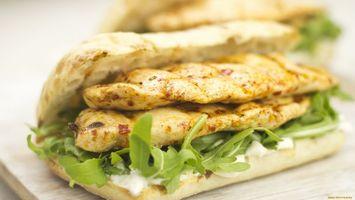 Фото бесплатно хлеб, салат, мясо