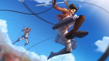 Бесплатные фото люди,оружие,меч,бой,прыжок,аниме