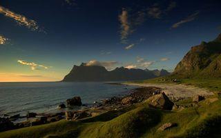 Фото бесплатно море, вода, горы