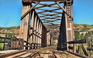 Фото бесплатно мост, деревянный, старый