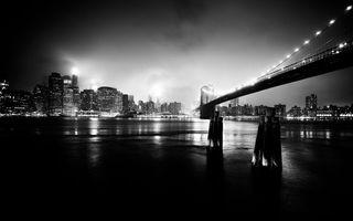 Фото бесплатно мост, дома, высотки