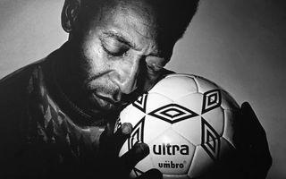 Бесплатные фото пеле,футболист,легенда,мяч,фото,черно-белое,мужчины
