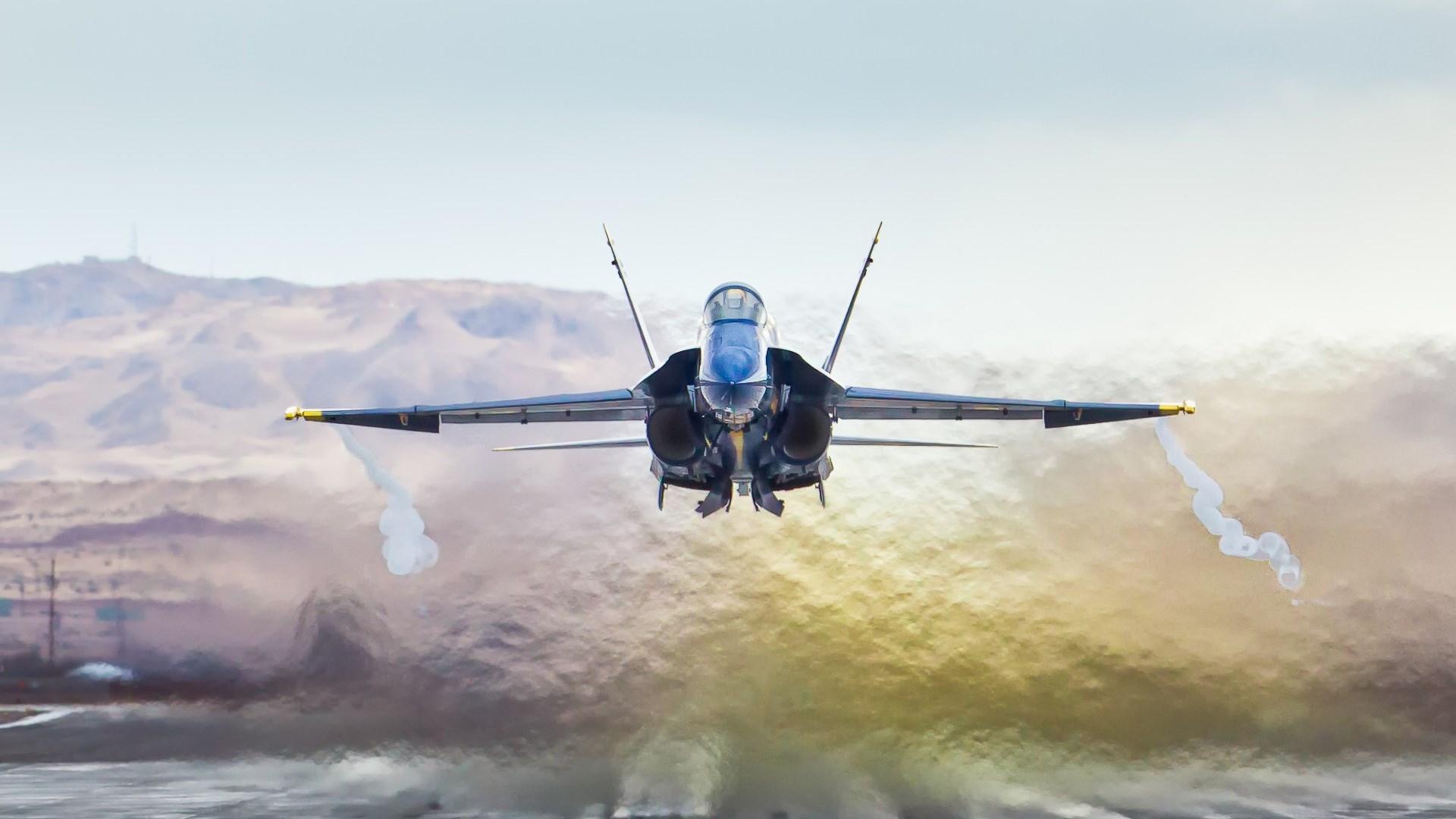самолет, взлет, форсаж