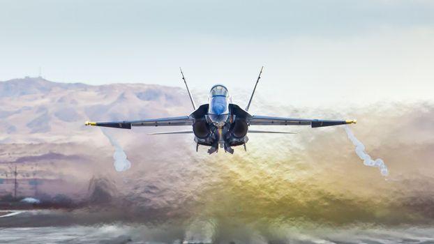 Photo free airplane, takeoff, afterburner