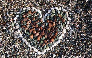 Фото бесплатно сердце, камни, белые