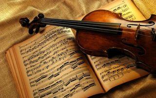 Заставки скрипка, колки, струны