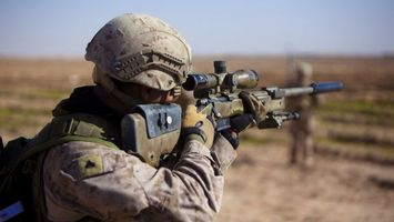 Photo free soldier, rifle, sight