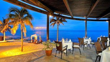Фото бесплатно море, ресторан, Мальдивы