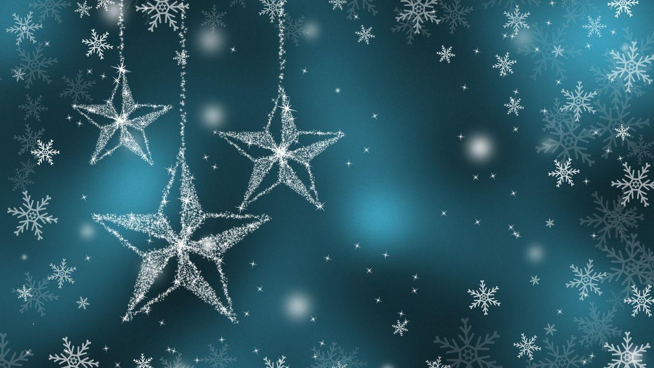 Фото бесплатно звезды, иней, украшения - на рабочий стол
